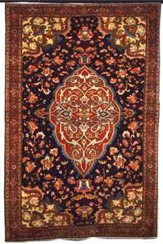 19th Century Farahan Sarouk Rug Size:137 x 210 Cm