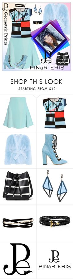 """Fantasy of geometric lines"" by m-kints ❤ liked on Polyvore featuring Roland Mouret, Diane Von Furstenberg, Valentino, Lauren Ralph Lauren, Issey Miyake, Kenneth Jay Lane and pinareris"