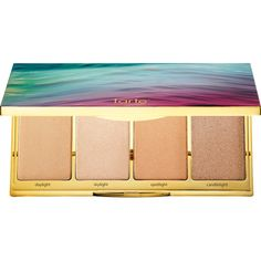 tarte Rainforest of The Sea Skin Twinkle Lighting Palette Volume II (€39) ❤ liked on Polyvore featuring beauty products, makeup, face makeup, tarte makeup, tarte cosmetics, highlight makeup, palette makeup and tarte