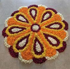 Mehndi Designs For Kids, Simple Rangoli Designs Images, Rangoli Designs Flower, Rangoli Border Designs, Flower Rangoli, Easy Rangoli, Beautiful Rangoli Designs, Flower Designs, Desi Wedding Decor