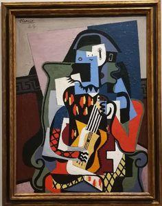 Pablo Picasso - Harlequin Musician, 1924.