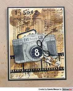 Card by Suzanne Czosek using Darkroom Door Number Medley Stamp Set, Filmstrip and Camera Eclectic Stamp