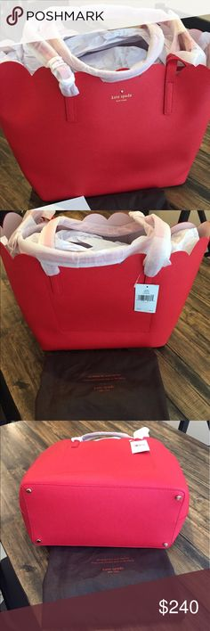 Kate Spade Lily Avenue Carrigan Scallop Tote Kate Spade Lily Avenue Carrigan Scallop Tote. New with tags. Includes dust bag. kate spade Bags Totes