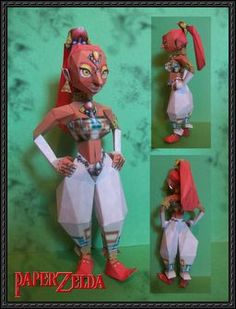 These zelda papercraft is Nabooru, based on the gameOcarina of Time of The Legend of Zelda series, the paper crafts are created by Paperlegend. Nabooru is