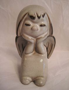 Howard Pierce Porcelain Angel Meditating Figurine Meditation, Sculptures, Porcelain, Shops, Pottery, Angel, California, Dolls, Cute