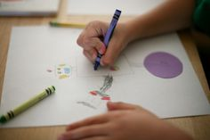 Kids art lesson based on The Dot by Peter Reynolds