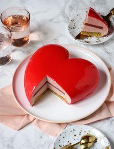 Valentine Desserts, Valentine Cake, Valentines, No Cook Desserts, Delicious Desserts, Pasta Cake, Eclair Recipe, Cake Recipes, Dessert Recipes