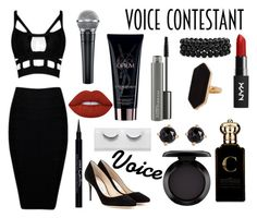 """""""The Voice"""" by lovepeacelove-723 ❤ liked on Polyvore featuring Yves Saint Laurent, MAC Cosmetics, Lime Crime, Bling Jewelry, Jaeger, Givenchy, Jimmy Choo, Irene Neuwirth, Clive Christian and thevoice"""