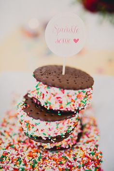 {ice cream sandwiches} Everything's better with sprinkles!!
