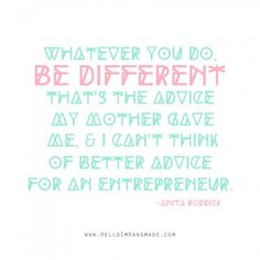 Anita Roddick quote | from 10 Inspiring Quotes for Women Entrepreneurs on HelloImHandmade.com