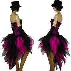 Burlesque Steam Punk Sexy Black Pink Tutu Dress Up Costume Skirt Retro Show 80s   eBay