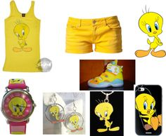 """Tweety Bird"" by swaggqueen86 on Polyvore"