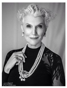 67 years old top model Maye Musk wearing Anne Fontaine fall winter black dress Rosalie for the interview she made for the magazine Spirit and Flesh
