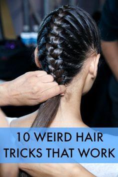 10 Weird Hair Tricks That Really Work
