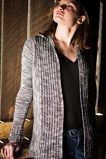 Penny Open Cardigan -- sweater knitting pattern by Pamela Wynne