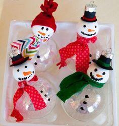 foam ball snowman ornaments