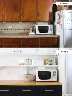 How to reconfigure your existing cabinets for a fresh looking kitchen design. This is similar to what we want to do with the layout of our cabinets