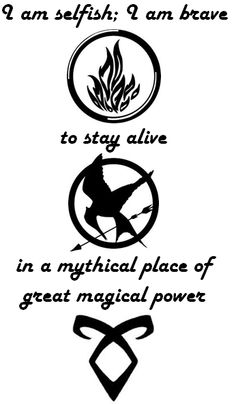 Tattoo idea, quotes from Divergent, Hunger Games, and Mortal Instruments