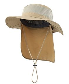 Home Prefer Outdoor Mesh Sun Hat Wide Brim Fishing with Neck Flap Hats 6ac8cd74dad1