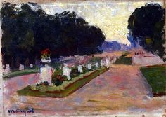 bofransson:    Marquet, Albert. Alley of the Luxembourg Gardens
