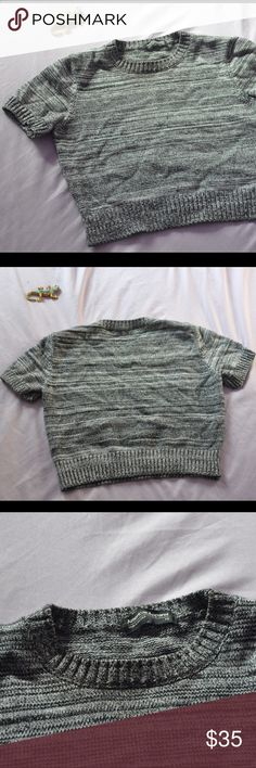 American Apparel Cropped Mock Sweater AA cropped sweater. Sz xs. Worn once. Recommended for A-B cup sizes but no larger American Apparel Sweaters