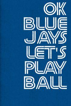 OK Blue Jays canvas print for Toronto baseball fans Blue Jay Way, Go Blue, Baseball Tips, Baseball Shoes, Baseball Mom, Baseball Field, Toronto Blue Jays, Nfl Football, Canvas Prints