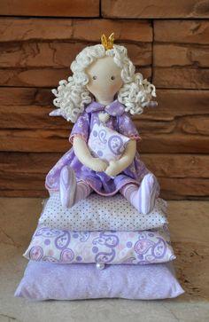 Princess on the Pea, cloth doll, , handmade doll, art doll, handmade doll , fabric doll, soft doll, rag doll by Neonila1 on Etsy https://www.etsy.com/listing/230330075/princess-on-the-pea-cloth-doll-handmade
