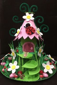 Handcrafted Easter Bonnet 'Fairy Garden' Brand New Easter Crafts, Crafts For Kids, Easter Ideas, Easter Hat Parade, Market Day Ideas, Fairy Furniture, House Furniture, Garden S, Spring Day