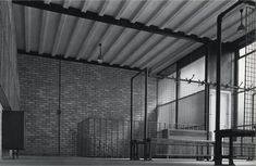 Alison and Peter Smithson: Hunstanton Secondary Modern School, 1954 Alison And Peter Smithson, Secondary School, Brutalist, Modern Architecture, My House, Blinds, Around The Worlds, Exterior, House Design