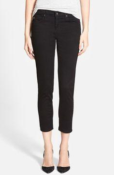 AG 'Stilt' Cigarette Leg Crop Jeans (Super Black) available at #Nordstrom