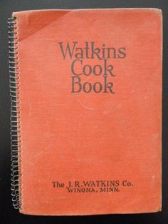 Watkins Cook Book 1936 Recipes Meals Candy Soups Weights Tips Color Advertising