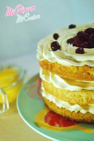 Tarta de lemon curd y crema de merengue suizo | Lemon curd and swiss meringue buttercream layer cake