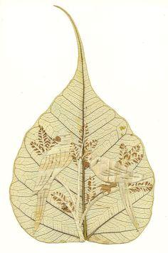 Valentine Gift  LOVE Birds No Two leaf or my leaf art looks exactly alike!  http://etsy.me/xlo8G3 via @Etsy Have U seen leaf art?