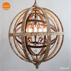 wood globe chandelier - Google zoeken