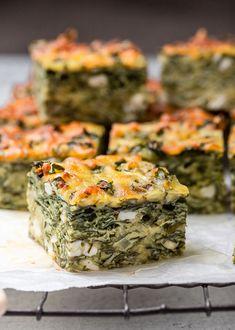 Vegetable Side Dishes, Vegetable Recipes, Vegetarian Recipes, Cooking Recipes, Diet Recipes, Veggie Meals, Spinach Recipes, Spinach Feta Pie, Recipes