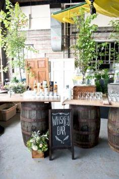 outdoor whiskey bar