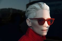 Tilda Swinton has teamed with Korean eyewear brand Gentle Monster on a sunglasses collection. The three styles - all striking silhouettes - will retail fro Tilda Swinton, Cat Eye Sunglasses, Sunglasses Women, Sunglasses Sale, Vintage Sunglasses, Oversized Sunglasses, Image Mode, Hood By Air, Corte Y Color