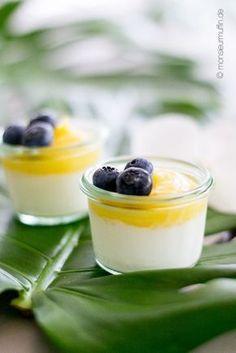 Rezept für Kokos-Ananas-Dessert superschnell gemacht tropischer Nachtisch Sommerdessert erfrischend leicht mit frischer Ananas und Kokoscreme
