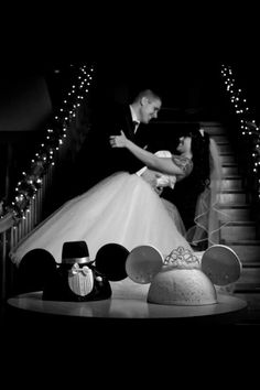 After proposing in Disneyland with a custom Mickey Mouse engagement ring we had our BEAUTIFUL Disney wedding :)