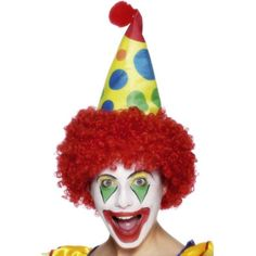 Clown Hat with Red Wig - Walmart.com