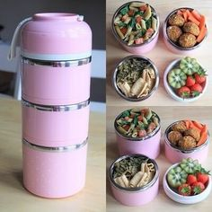 PastelHeaven™ Cute Little LunchBox – ZenElephants Lunch Box Containers, Insulated Lunch Box, Bento Box Lunch, Lunch Boxes, Cool Kitchen Gadgets, Cute Kitchen, Easy Meal Prep, Yummy Food, Delicious Meals