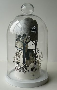 Paper home and garden cloche