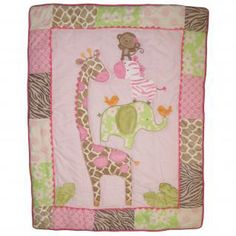 Jungle Jill Bedding by Carters - Jungle Baby Crib Bedding - c604bed