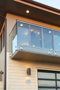 Balcony Glass Handrail - All About Balcony Staircase Railings, Stairways, House By The Sea, House 2, Glass Handrail, Balcony Railing Design, Modern Balcony, Glass Balcony, Stairway To Heaven