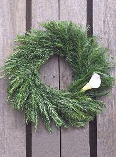 Rosemary & Calla Wreath