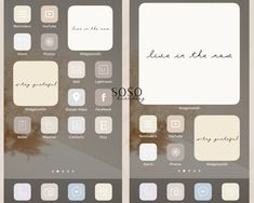 Want a home screen that looks like this? Check out SOSO Branding on Etsy (etsy.com/shop/sosobranding) for app covers to customize your home screen and make it aesthetically pleasing!   iPhone home screen ideas | Home screen inspo | Aesthetic home screen inspiration | Widgetsmith Shortcuts app | Aesthetic home screen inspo | iOS 14 widget photos | iOS 14 app covers | iOS 14 app icons App In, Any App, Themes App, Phone Themes, Iphone 3, Google Drive, Microsoft, Shortcut Icon, Cream Aesthetic