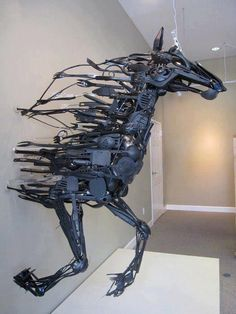 Horse Kitchen utensils sculpture