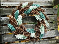 Wreath. Pine Cone Wreath White Pine. by NaturesCraftSupply