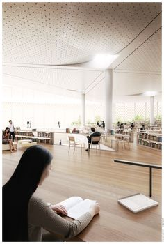 Image 8 of 8 from gallery of nArchitects Wins Shanghai Competition with Home-Inspired Library. Courtesy of nArchitects