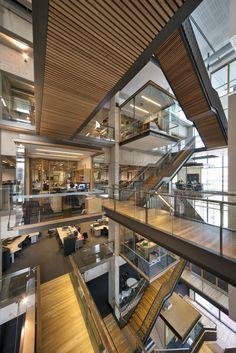 The kinghorn cancer centre architects dream atrium design, s Modern Architecture Design, Commercial Architecture, Space Architecture, Plan Garage, Atrium Design, Centre Commercial, Commercial Interiors, Office Interiors, Interior And Exterior
